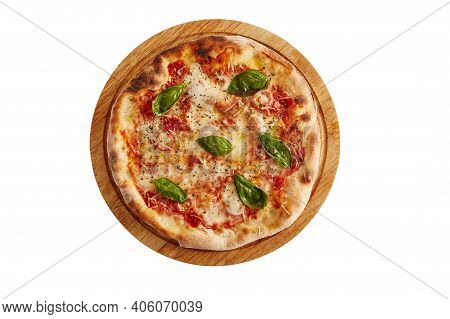A Photo Of Pizza With Cheese And Oregano And White Background