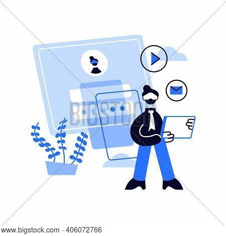 Registration Abstract Concept Vector Illustration. Registration Page