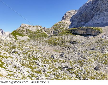Beautiful Panorama Of The Valley Of The Seven Triglav Lakes.