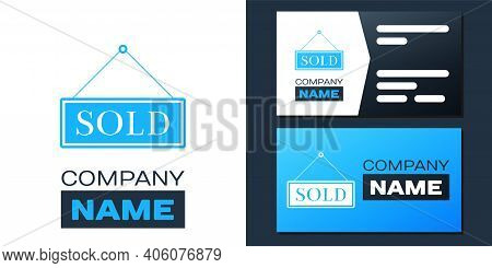 Logotype Sold Icon Isolated On White Background. Sold Sticker. Sold Signboard. Logo Design Template