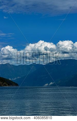 Clear Afternoon On Earl's Cove, Bc. Earl's Cove Is A Bc