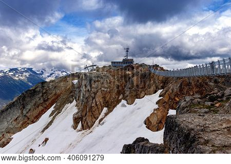 The Tallest Sky Lift In The World, Mt Blackcombe, Bc, Canada. Mt. Blackcombe Is One Of The Tallest P