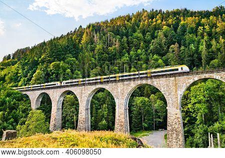 The Ravenna Bridge Railway Viaduct On The Hollental Railway In The Black Forest, Baden-wurttemberg,