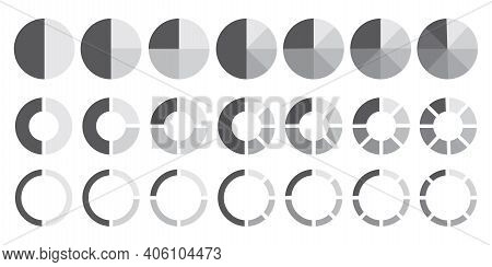 Sector Circles Pies. Flat Infographic. Business Design. Vector Illustration. Stock Image. Eps 10.