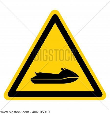 Jet Ski Area Symbol Sign, Vector Illustration, Isolate On White Background Label. Eps10