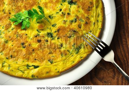 Frittata - Italian Omelette With Parsley And Parmesan