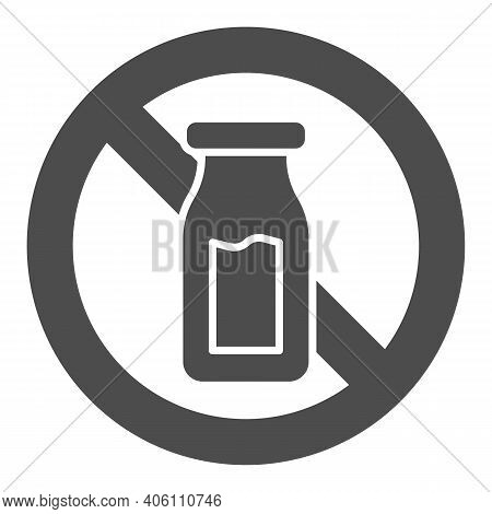 Salt Shaker With Forbidden Sign Solid Icon, Diet Concept, Banned Salt Sign On White Background, Salt