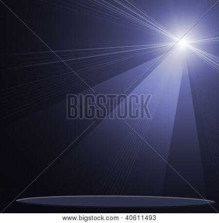 illustration of concert spot lighting over dark background