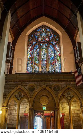 Inverness , Scotland - May 22 , 2019 : Interior Design Of Inverness Cathedral, Also Known As The Cat