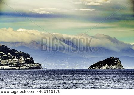 Landscapes Of Spotorno And The Island Of Bergeggi On The Western Ligurian Riviera And Its Beautiful