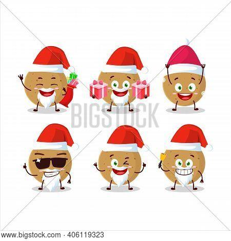 Santa Claus Emoticons With Longan Cartoon Character