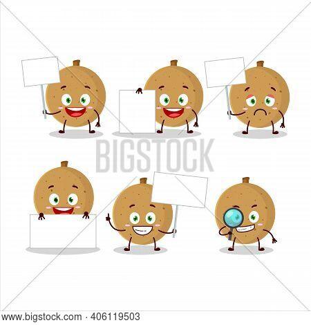 Longan Cartoon In Character Bring Information Board