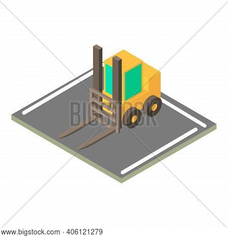 Forklift Icon. Isometric Illustration Of Forklift Vector Icon For Web