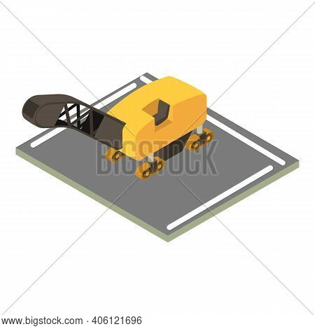 Asphalt Milling Icon. Isometric Illustration Of Asphalt Milling Vector Icon For Web
