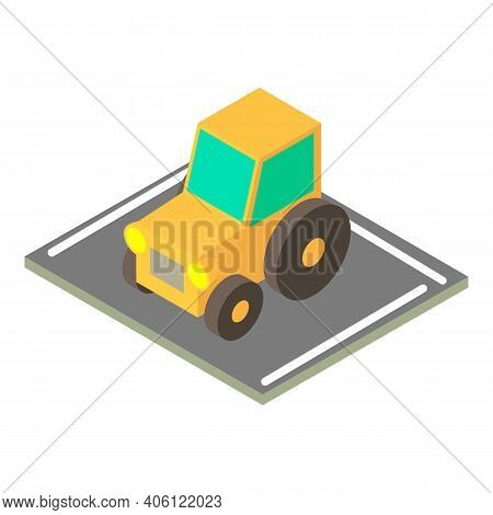 Tractor Icon. Isometric Illustration Of Tractor Vector Icon For Web