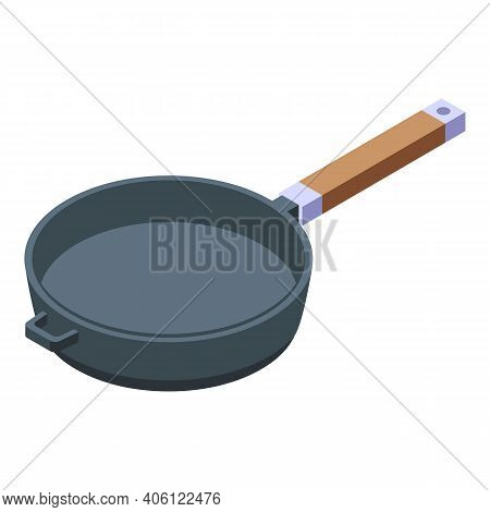 Skillet Icon. Isometric Of Skillet Vector Icon For Web Design Isolated On White Background