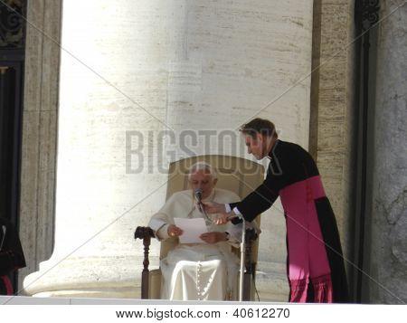 Pope Benedict at St. Peters Basilica 11-9-11