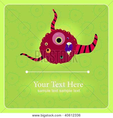 Fantastic monster vector background