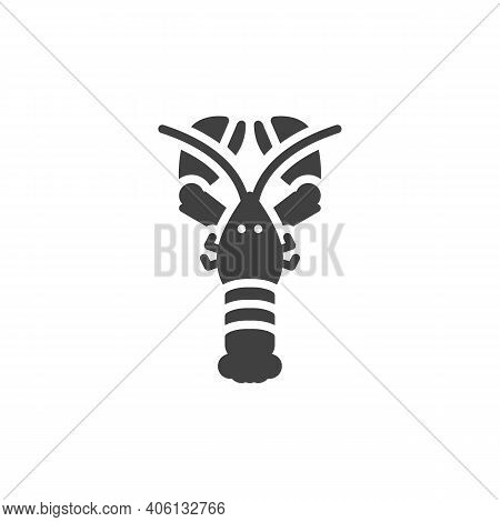 Lobster Marine Animal Line Icon. Linear Style Sign For Mobile Concept And Web Design. Lobster Animal