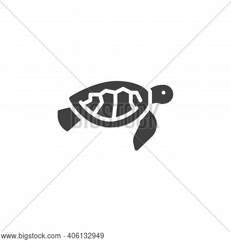 Sea Turtle Line Icon. Linear Style Sign For Mobile Concept And Web Design. Chelonia Mydas Outline Ve