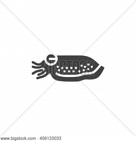 Cuttlefish Mollusk Line Icon. Linear Style Sign For Mobile Concept And Web Design. Cuttlefish Animal