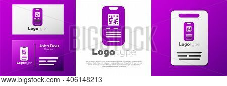 Logotype Online Ticket Booking And Buying App Interface Icon Isolated On White Background. E-tickets
