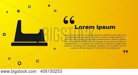 Black Baby Potty Icon Isolated On Yellow Background. Chamber Pot. Vector