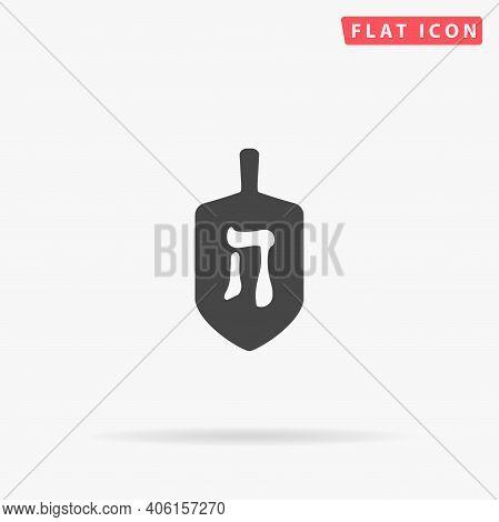 Chanukah Dreidel Flat Vector Icon. Hand Drawn Style Design Illustrations.