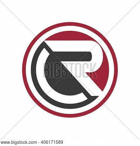 Initial Letter Rc Shaped Round For Your Best Business Symbol. Vector Illustration Eps.8 Eps.10