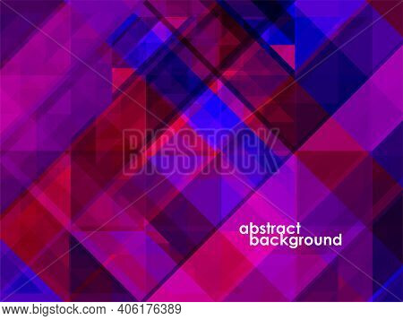 Abstract Background Of Geometric Overlaps, Colorful Mosaic