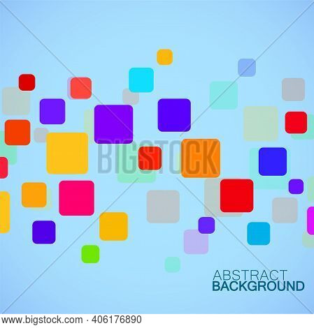 Abstract Colorful Geometric Background With Overlapping Squares