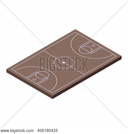 Basketball Court Icon. Isometric Of Basketball Court Vector Icon For Web Design Isolated On White Ba