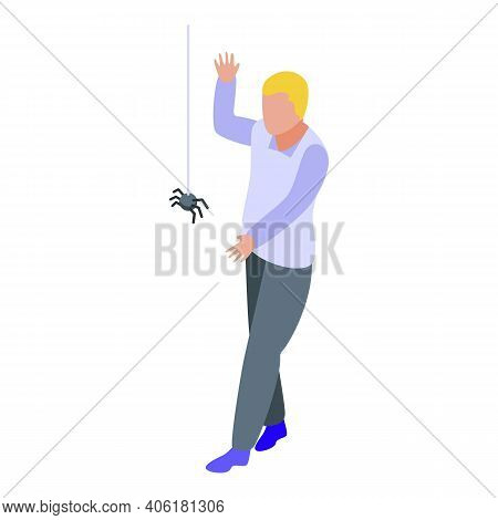 Spider Fear Icon. Isometric Of Spider Fear Vector Icon For Web Design Isolated On White Background