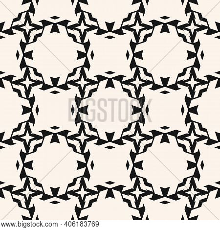 Vector Ornamental Seamless Pattern With Carved Grid, Lattice, Net, Mesh, Diamonds, Floral Silhouette