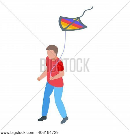Hobby Kite Icon. Isometric Of Hobby Kite Vector Icon For Web Design Isolated On White Background
