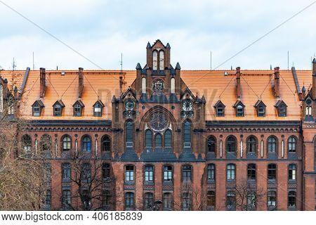 Wroclaw, Poland - March 7 2020 Facade Of Metropolitan Higher Theological Seminary