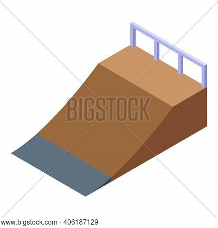 Skate Park Icon. Isometric Of Skate Park Vector Icon For Web Design Isolated On White Background