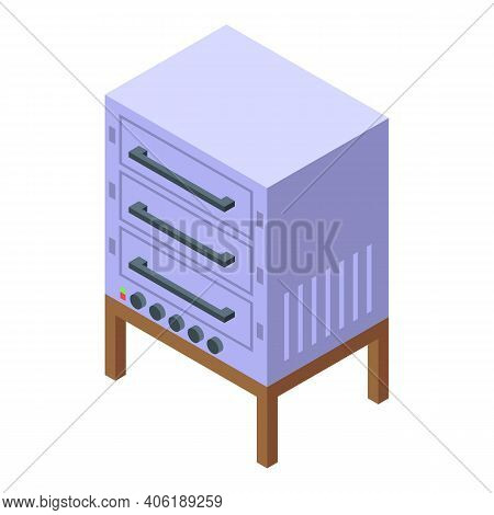 Dough Bake Stove Icon. Isometric Of Dough Bake Stove Vector Icon For Web Design Isolated On White Ba