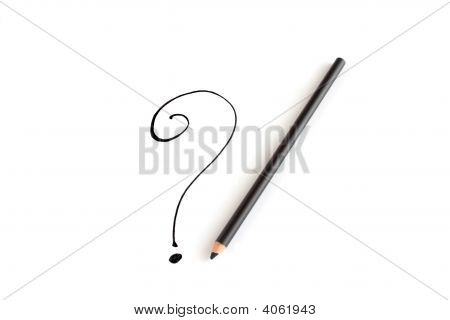 Pencil And Question Mark