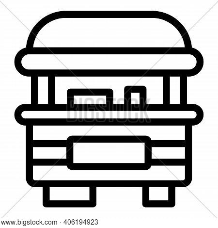 Street Cart Retail Icon. Outline Street Cart Retail Vector Icon For Web Design Isolated On White Bac