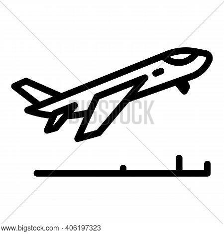 Flight Dinner Icon. Outline Flight Dinner Vector Icon For Web Design Isolated On White Background