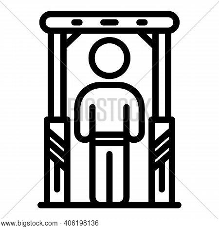 Passenger Air Control Icon. Outline Passenger Air Control Vector Icon For Web Design Isolated On Whi