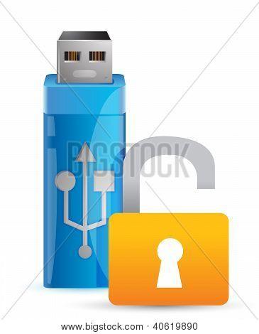 Usb Unlock And Flash Drive As Key