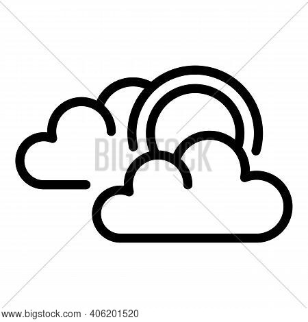 Cloudy Icon. Outline Cloudy Vector Icon For Web Design Isolated On White Background