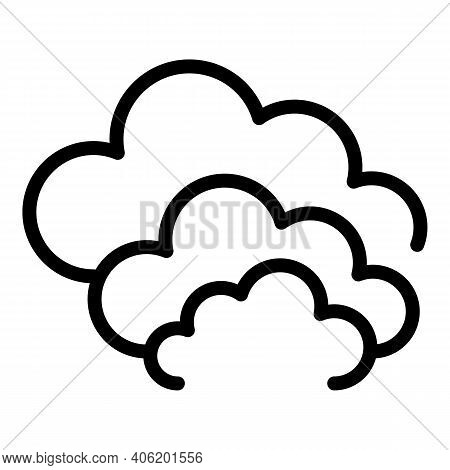 Cloudy Sky Icon. Outline Cloudy Sky Vector Icon For Web Design Isolated On White Background