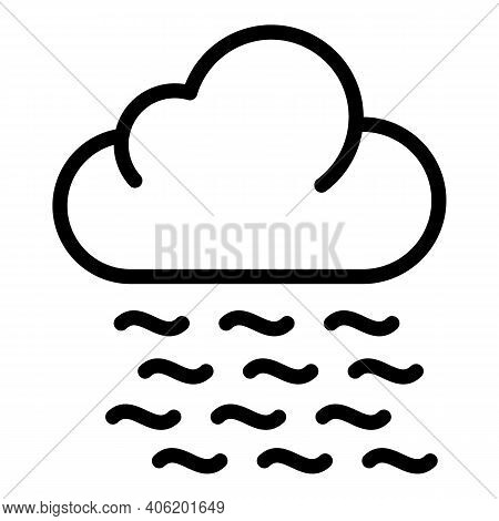 Foggy Weather Icon. Outline Foggy Weather Vector Icon For Web Design Isolated On White Background