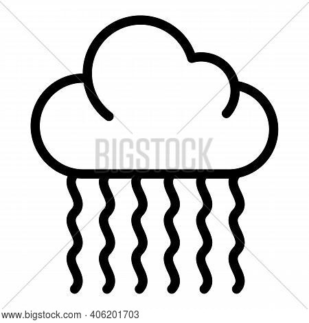 Heavy Rain Icon. Outline Heavy Rain Vector Icon For Web Design Isolated On White Background
