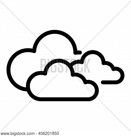 Cloudy Forecast Icon. Outline Cloudy Forecast Vector Icon For Web Design Isolated On White Backgroun