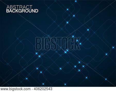 Abstract Technology Background With Glowing Communication Lines. Vector Illustration