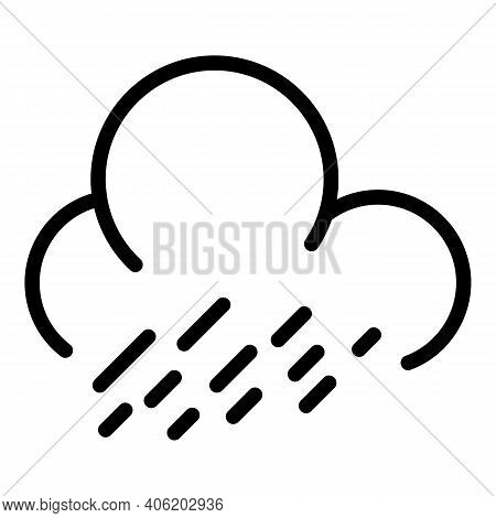 Drizzle Day Icon. Outline Drizzle Day Vector Icon For Web Design Isolated On White Background